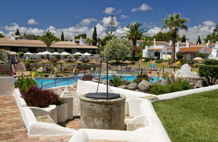The Rocha Brava resort has lots to explore including communal pools, tennis courts and a gym