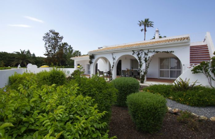 Villa Oleander is set in the stylish resort of Rocha Brava, with 55 acres of landscaped gardens and whitewashed villas