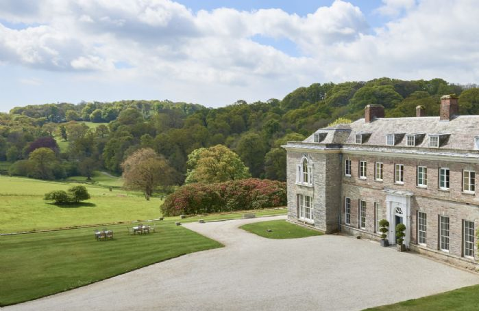 Boconnoc House is set in beautiful woodlands and parkland