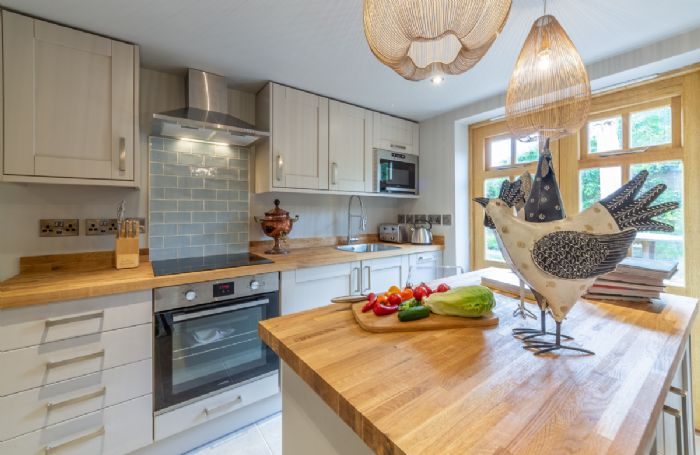 Ground floor: The modern well equipped kitchen