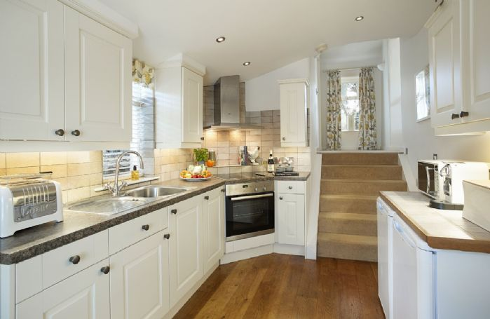 Ground floor: The stylish and well equipped kitchen