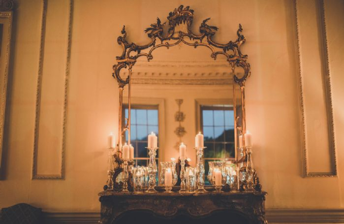 Ground floor: Cosy by candlelight in the drawing room