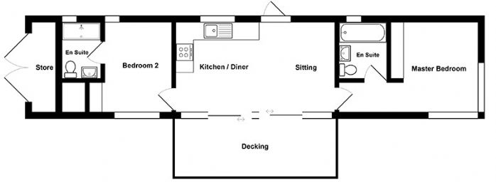 The watch houses floor plan