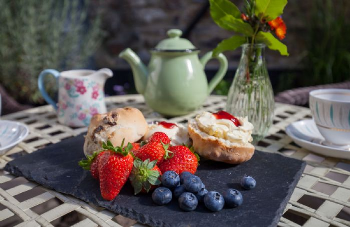 Afternoon tea for two with local fresh cream, conserve and fresh fruit
