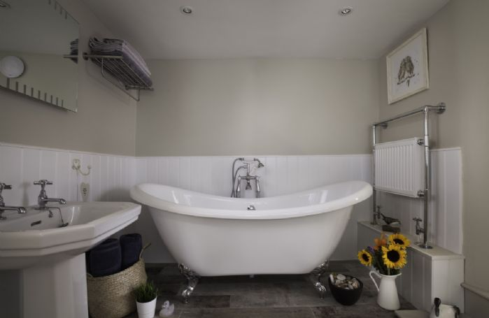 Ground floor: Roll top bath to enjoy a long hot soak at the end of the day