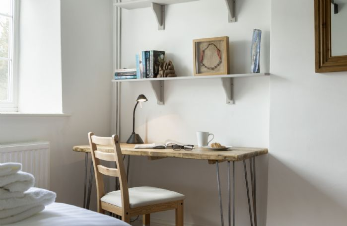 First floor: Classic desk in the bedroom with some books to enjoy