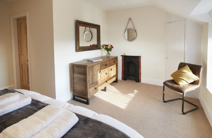 Second floor: The spacious master bedroom with en suite