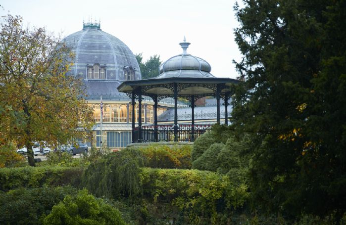 Restored gardens with a botanical conservatory, events and fairs, live bands and an arts centre