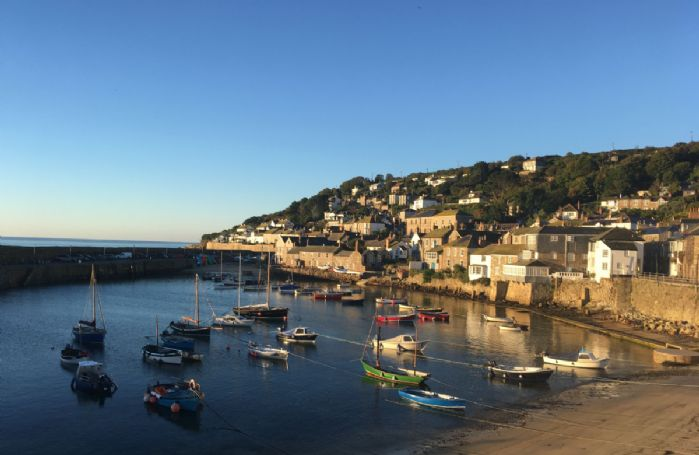 Beautiful scenic image of Mousehole Harbour
