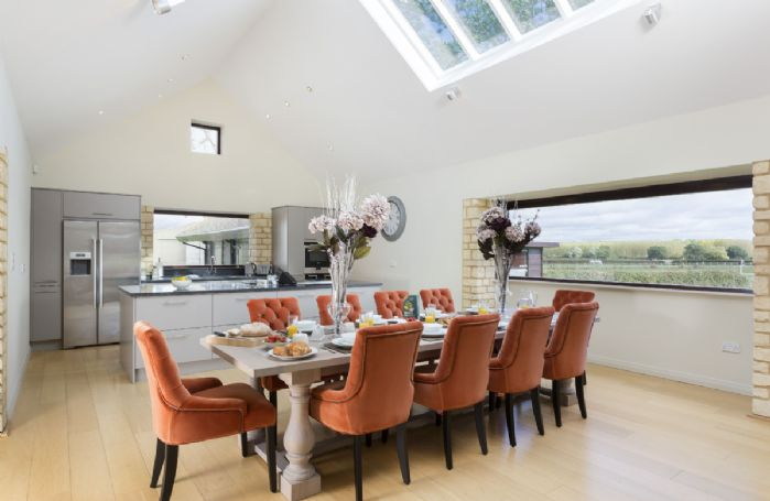 Ground floor: Elegant dining room with breath taking panoramic windows