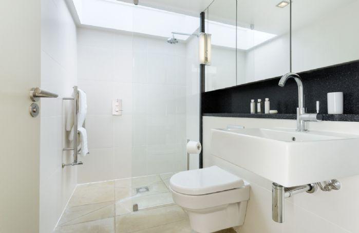 Ground floor: The en suite shower room from the master bedroom