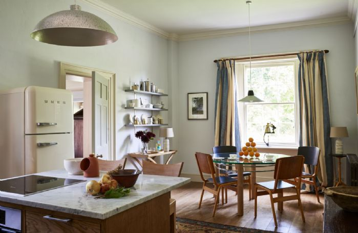 Ground floor: Large solid oak kitchen and dining area