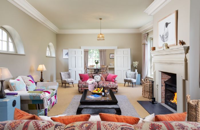 Ground floor:  Drawing room with open fire