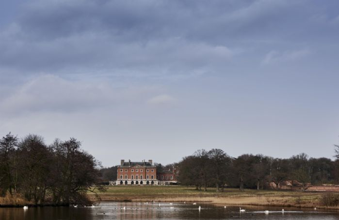 Splendid views of the lake and parkland on Wolterton Park Estate