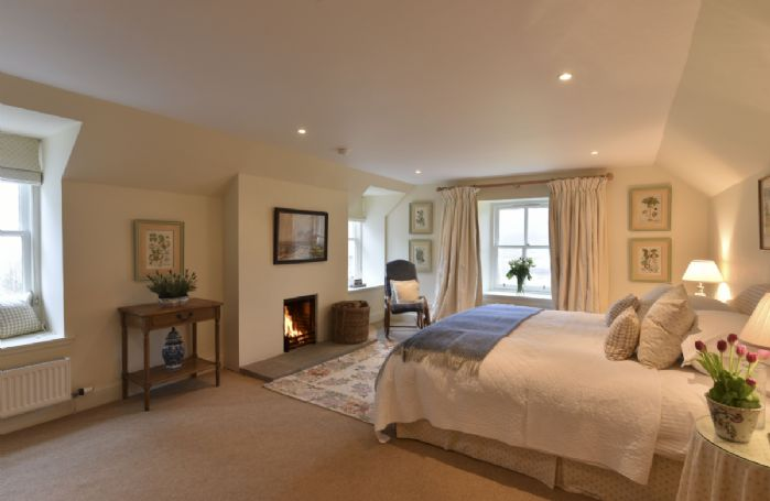 First floor: Master bedroom with king size bed, dressing area and en-suite bathroom