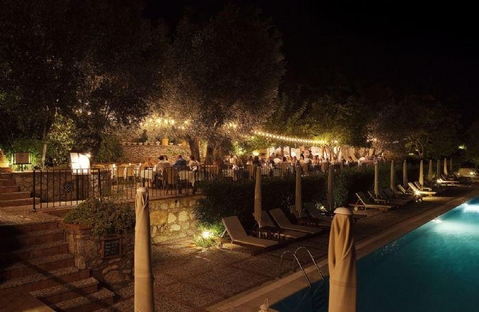One of two restaurants available at Dionysos