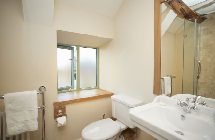 First floor: En-suite shower room belonging to Bedroom 2