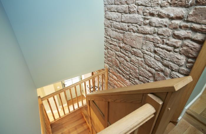 Wooden staircase to Bedrooms 1, 2 & 3