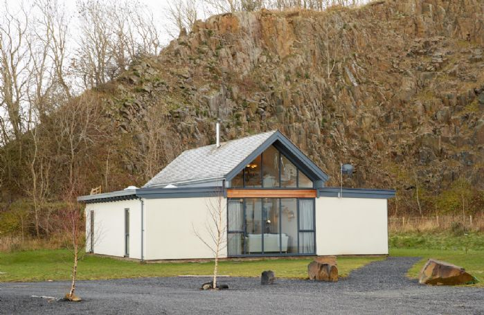 Mallow Lodge is a beautiful contemporary eco-lodge within the dramatic setting of the Brada Quarry