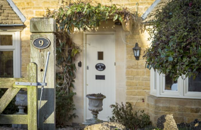 The welcoming entrance way into this modern Cotswold house