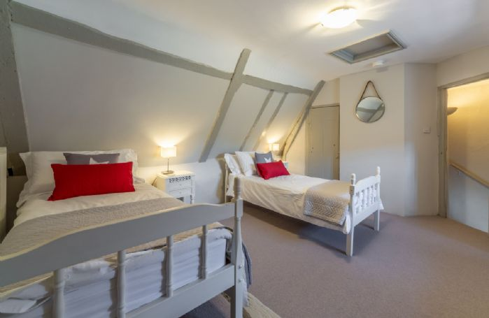 Second floor: Bedroom 4 with 2'6 twin beds (accessed from either Bedroom 2 on the floor below or Bedroom 3)