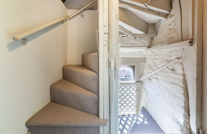 Winder staircase to the third floor