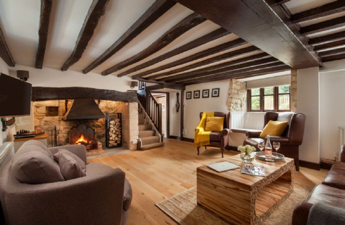 Ground floor: Original wooden beams are an attractive feature in the sitting room