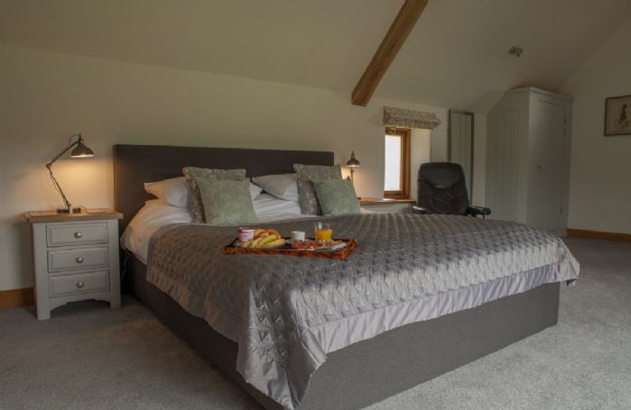 First floor: Master bedroom with super king size bed and en suite