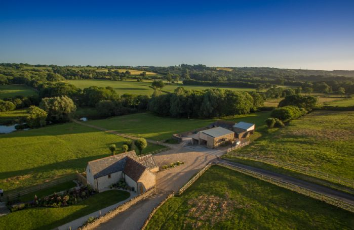Set in 70-acre private family estate in an area of outstanding natural beauty