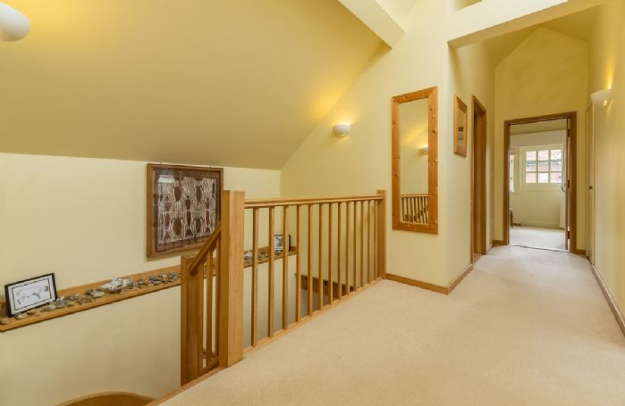 First floor: The spacious hallway leading to the bedrooms
