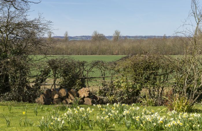 Views from the garden into the distance spanning for miles