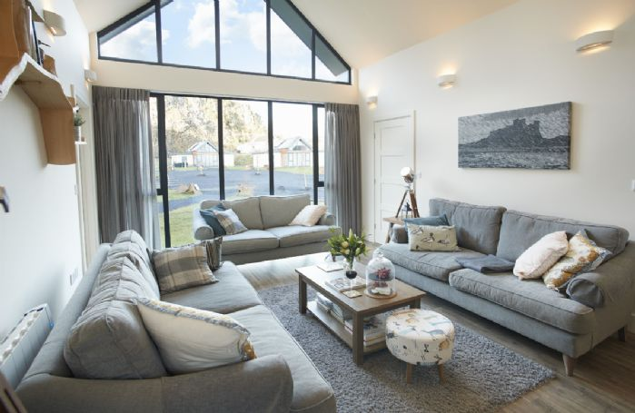 Ground floor: The stunning sitting room with comfortable sofas