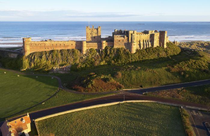 Bamburgh Castle has fantastic coastal views to enjoy