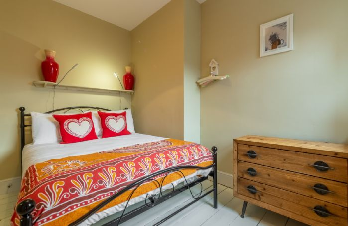 First floor: Bedroom two with double bed
