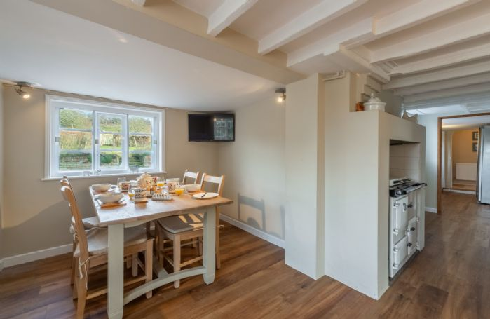 Ground floor: Large kitchen with breakfast table seating four