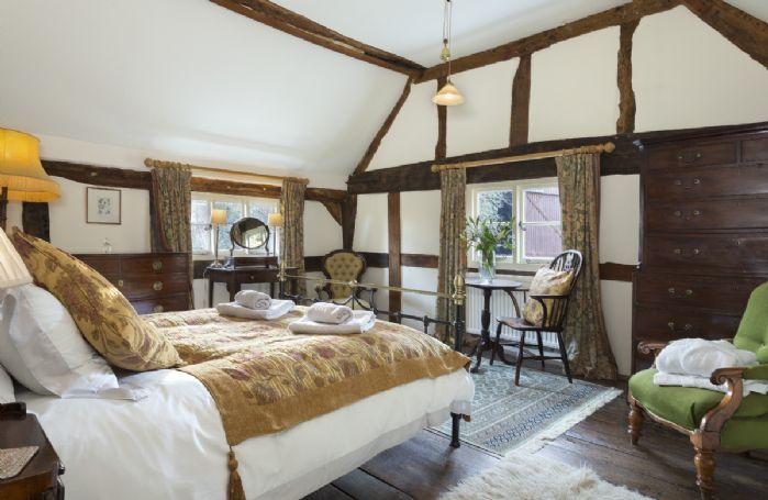 First floor: Master bedroom with king size 5' bed and period features