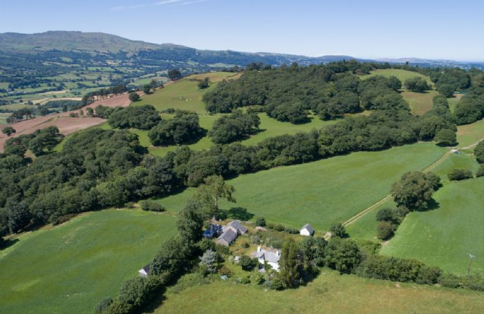 Bryn Rhydd enjoys sweeping views over the beautiful Bodnant Estate