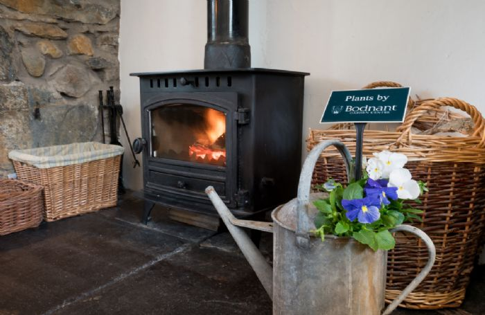 Enjoy a warming fire on a chilly afternoon