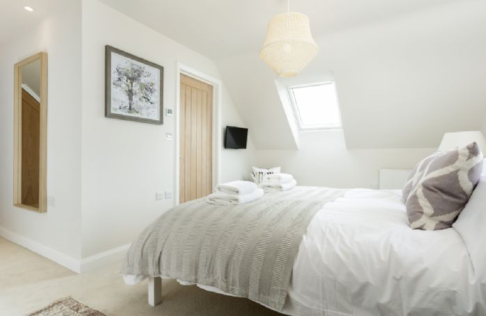 First floor: King-size bedroom with boutique styling