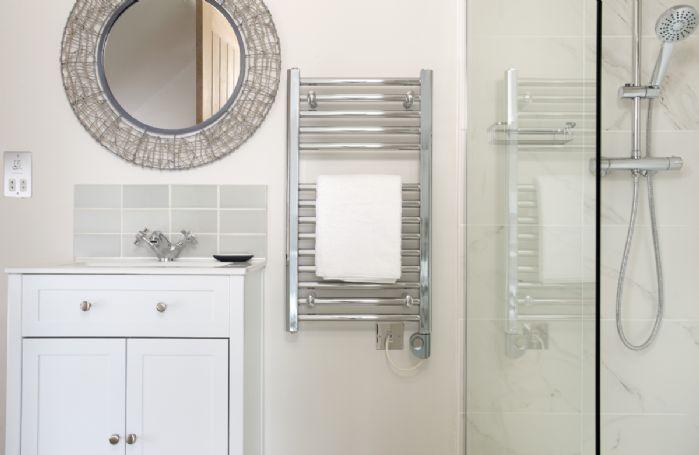 First floor: En-suite with walk-in shower