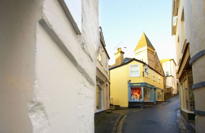 The narrow streets of Fowey have many independent shops and eateries to discover