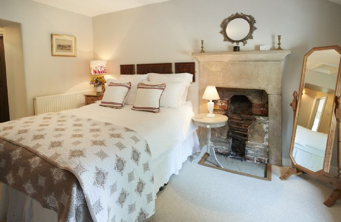 First floor: Double bedroom with 5' bed linked to small single bedroom