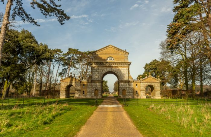 Nearby Triumphal Arch that leads to Holkham Park and Hall