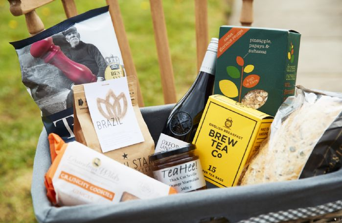 A complimentary hamper awaits you at The Old Combine Shed