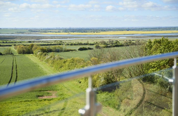 Stunning views across the River Crouch to Southend and the North Downs beyond