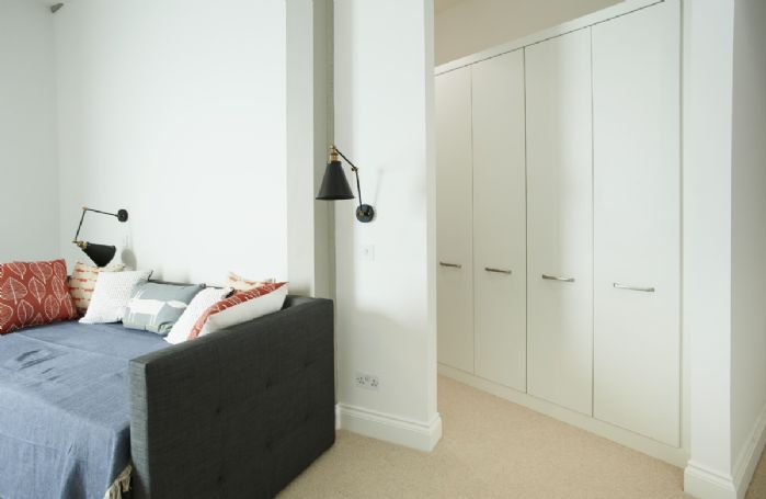 First floor: Snug Room with sofa bed suitable for children