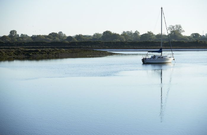 Calm waters at the Blackwater estuary