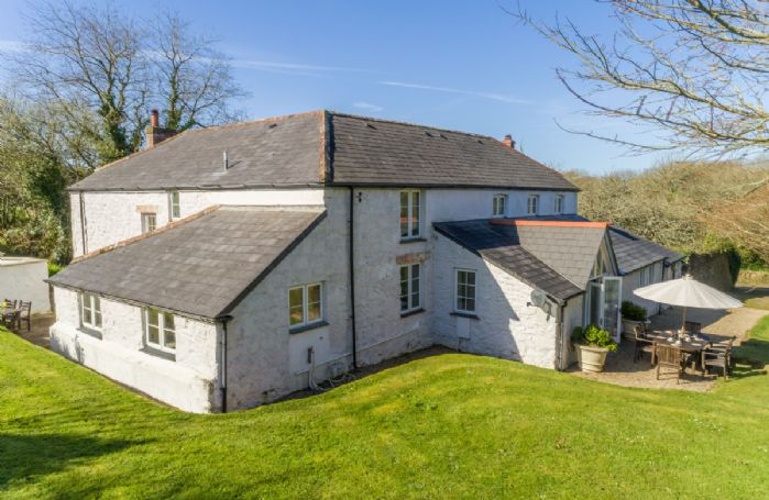 Bonython Farmhouse situated on the Bonython Estate, a traditional Cornish estate