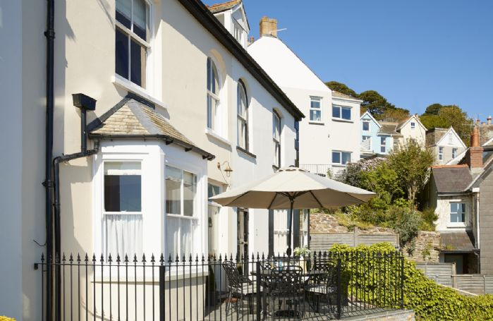 Stunning sea views from the quaint front terrace at Place View