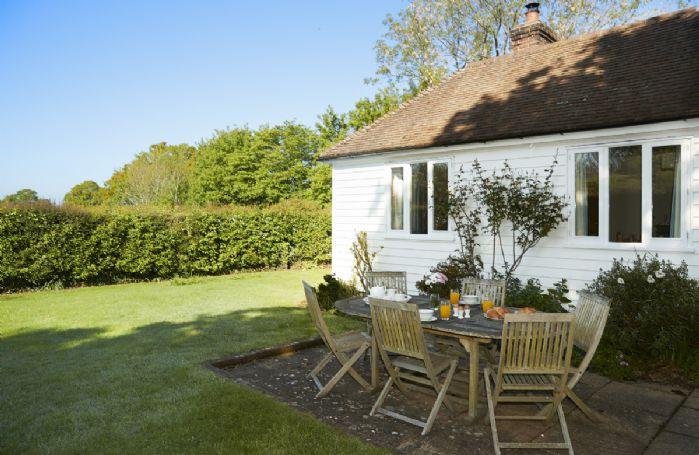 The spacious garden at Tufton Croft